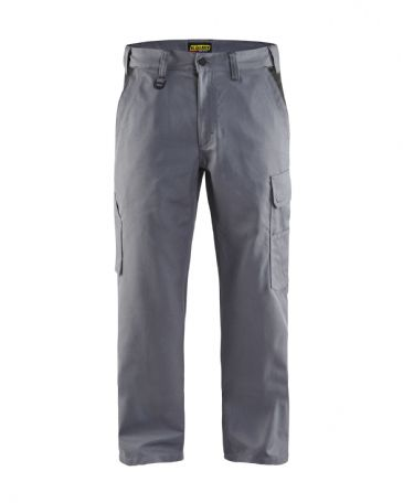 Blaklader 1404 Industry Trousers 65% Polyester, 35% Cotton Twill (Grey/Black)